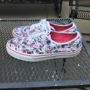 Women's Hello Kitty Vans Size 9 Shoes